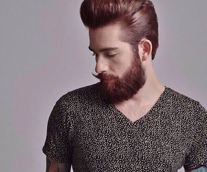 beard, boy, and hair style image