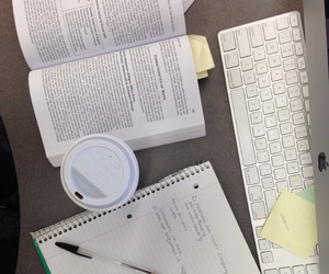coffee, school, and studying image