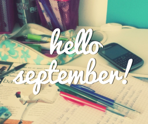 September, text, and bag image
