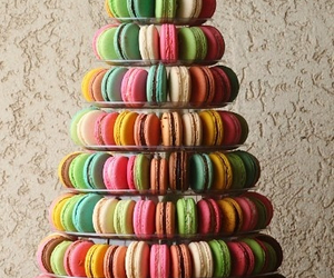 macaroons, sweet, and food image