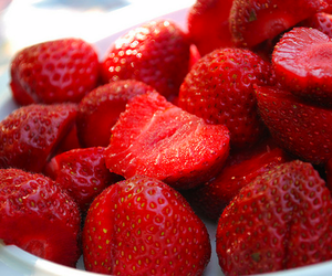 strawberries, love, and summer image