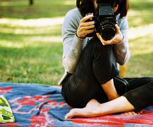 photography, camera, and girl image