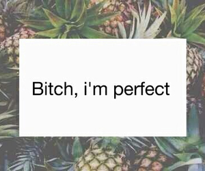 bitch, perfect, and pineapple image
