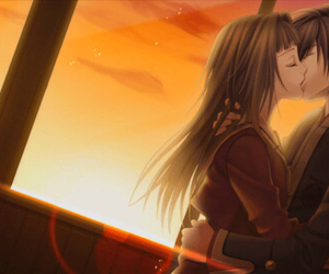 anime, kiss, and hiiro no kakera image