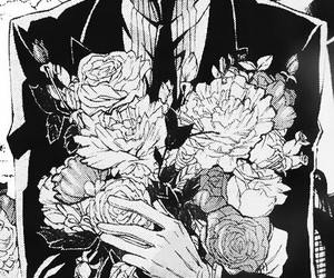 black butler, flowers, and kuroshitsuji image