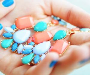 fashion, blue, and jewelry image