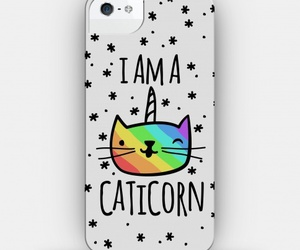 cat, unicorn, and case image
