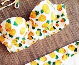 bikini, summer, and pineapple image