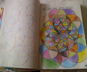 circles, color, and wreck this journal image