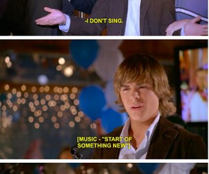 high school musical, HSM, and funny image