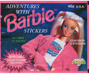 barbie, pink, and sticker image