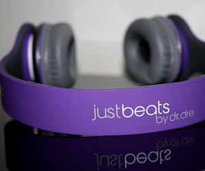 purple, justin bieber, and beats image