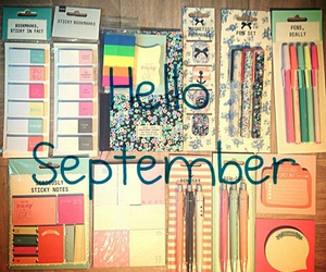 September, school, and back to school image