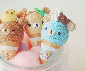 ice cream, food, and rilakkuma image