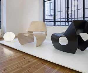 interior design, curve chair decoration, and chair design image