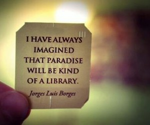 library, book, and paradise image
