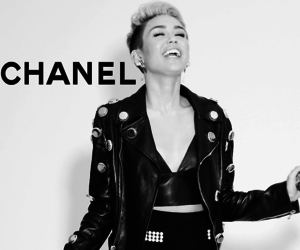 miley cyrus, chanel, and smile image