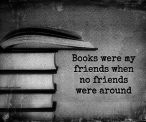 book, friends, and black and white image