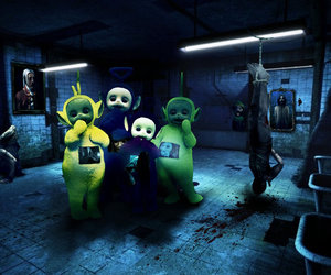 horror, Psycho, and teletubbies image