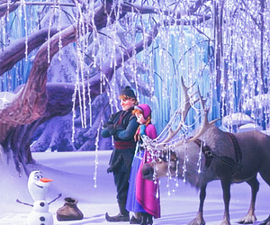 anna, frozen, and sven image