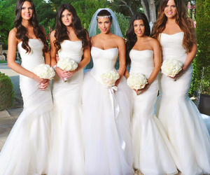 kim kardashian, wedding, and wedding dress image