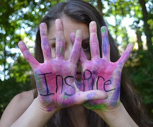 inspire, girl, and hands image