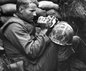 soldier, cat, and war image