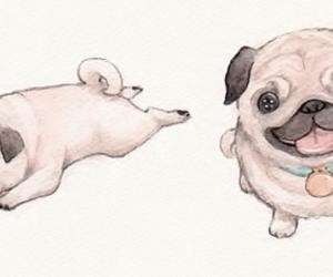 dog, drawing, and illustration image