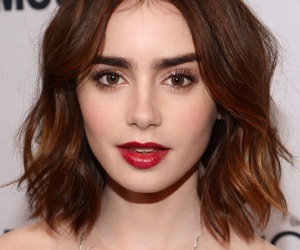 haircut, short hair, and lily collins image