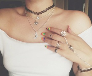 grunge, necklace, and nails image