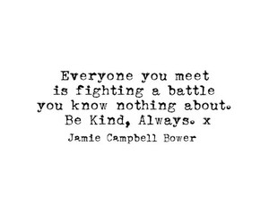 Jamie Campbell Bower, quote, and battle image