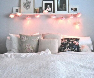 girly, pink, and lights image
