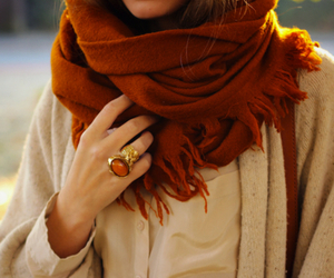 fashion, scarf, and autumn image