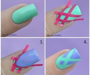 nails, tutorial, and diy image