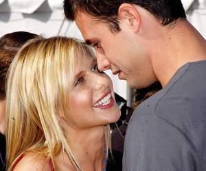 couple, smile, and sarah michelle gellar image