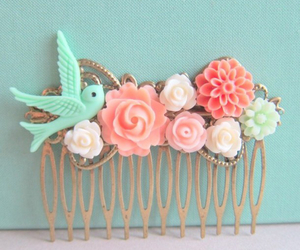 pastel, accessories, and bird image