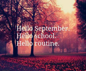 school, routine, and September image