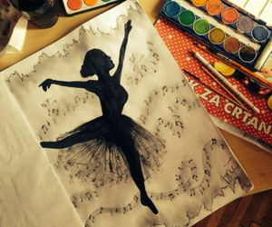 art, dance, and drawing image