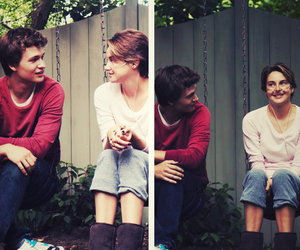 love, the fault in our stars, and book image