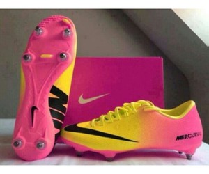 cleats, soccer, and yellow image