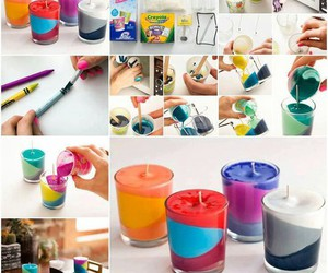 diy, candle, and crayon image