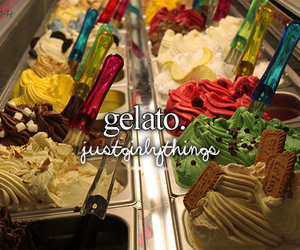 gelato, quote, and justgirlythings image