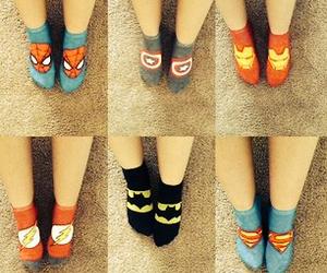 Marvel, socks, and superhero image