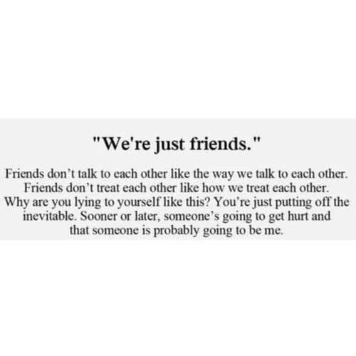Just friends discovered by • on We Heart It