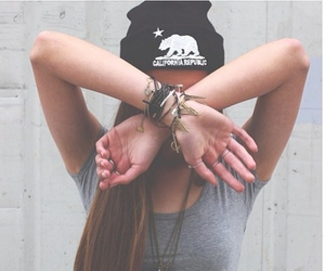 girl, hipster, and beanie image