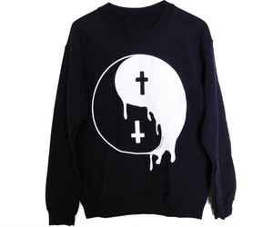 cross, hipster, and sweater image