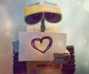 heart, wall-e, and love image