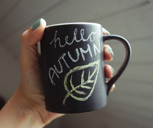 autumn, cup, and coffee image