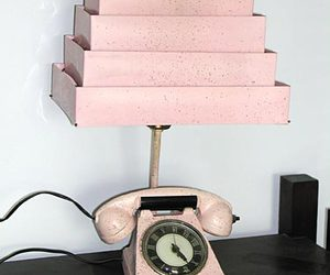 pink, telephone, and retro image