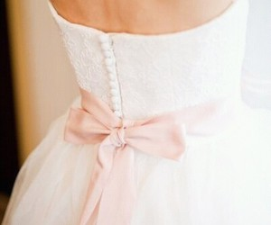 dress, pink, and white image
